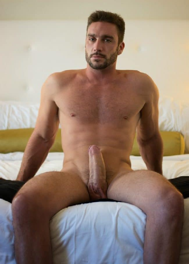 Horny Man On Bed